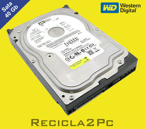 40Gb DISCO DURO SATA WESTERN DIGITAL AMARILLO