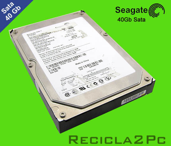 40Gb DISCO DURO SATA SEAGATE BARRACUDA GREEN