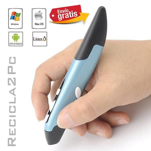 RATON USB INALAMBRICO VERTICAL COLOR AZUL