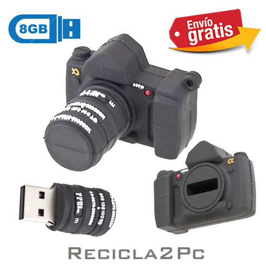 USB MEMORIA FLASH PENDRIVE CAMARA FOTOGRAFICA 8GB