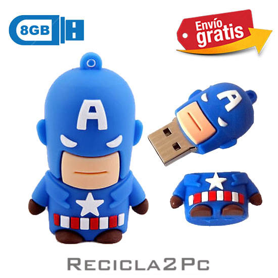 USB MEMORIA FLASH PENDRIVE CAPITAN AMERICA 8GB