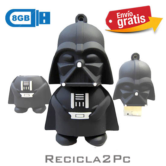 USB MEMORIA FLASH PENDRIVE DARTH VADER STAR WARS 8GB