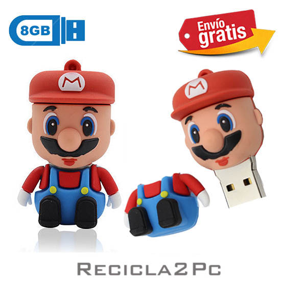 USB MEMORIA FLASH PENDRIVE MARIO BROSS 8GB