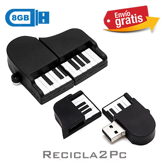 USB MEMORIA FLASH PENDRIVE PIANO DE COLA 8GB