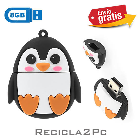 USB MEMORIA FLASH PENDRIVE PINGUINO 8GB