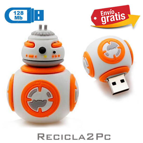 USB MEMORIA FLASH PENDRIVE ROBOT BOLA STARS WARS 128MB