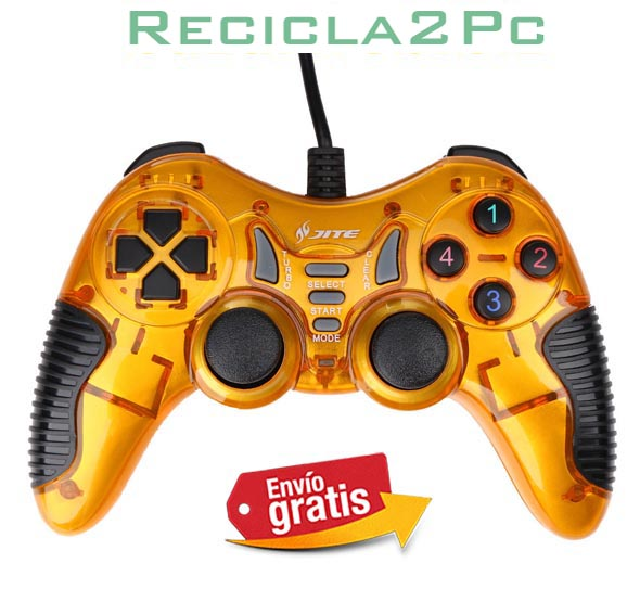 GAMEPAD JOYSTICK USB PC WINDOWS ANDROID JITE AMARILLO