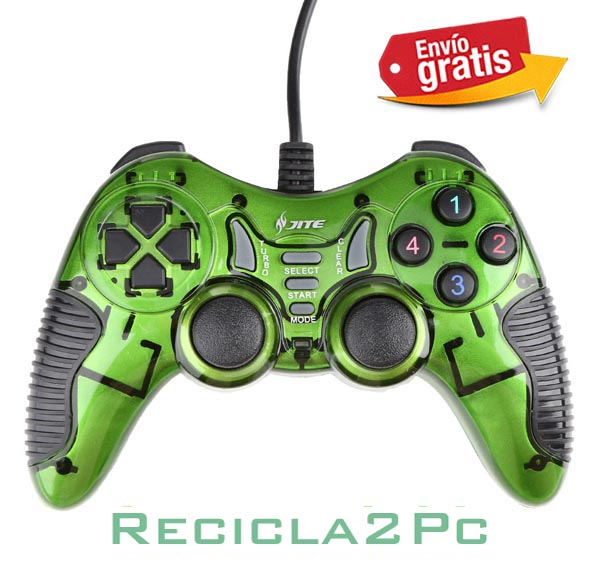 GAMEPAD JOYSTICK USB PC WINDOWS ANDROID JITE VERDE