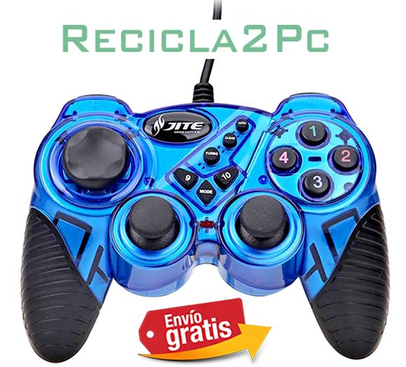 GAMEPAD JOYSTICK USB PARA PC WINDOWS ANDROID AZUL