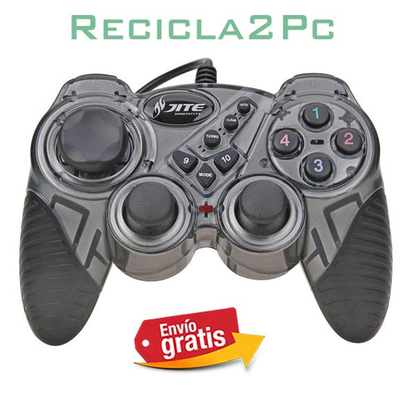 GAMEPAD JOYSTICK USB PARA PC WINDOWS ANDROID GRIS